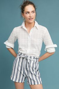Anthropologie_Striped Paperbag-Waisted Shorts