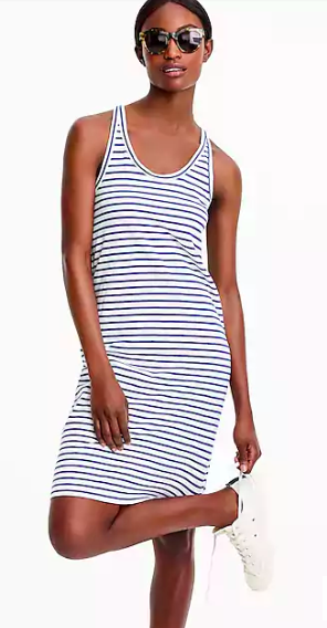 J.Crew, Racerback tank dress in stripe