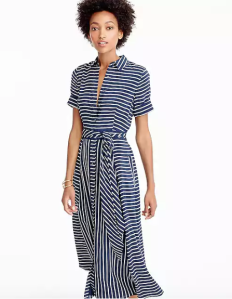 J.Crew, Midi shirtdress in stripe