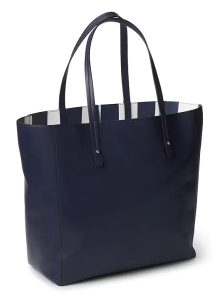 Gap_Large tote_Navy Stripes